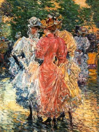 Young Women Chatting, C.1892 by Childe Hassam