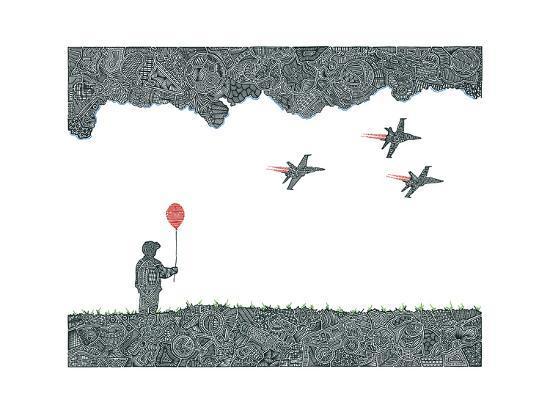 Childhood Dreams-Viz Art Ink-Giclee Print