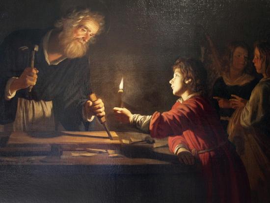 Childhood of Christ, C1620-Gerrit van Honthorst-Giclee Print
