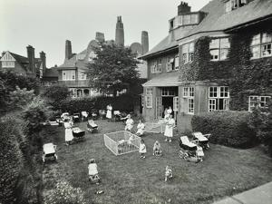 Children and Carers in a Garden, Hampstead, London, 1960