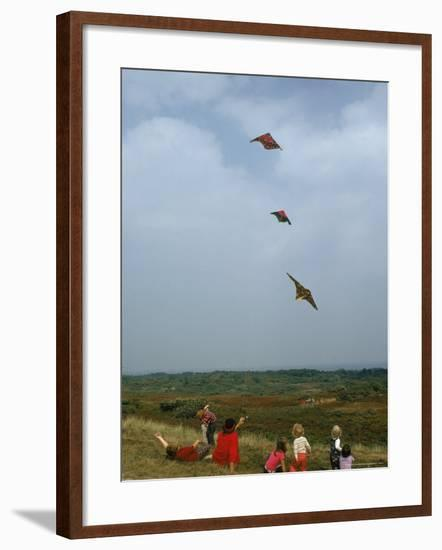 Children and Families Flying Kites in Nantucket, August 1974-Alfred Eisenstaedt-Framed Photographic Print