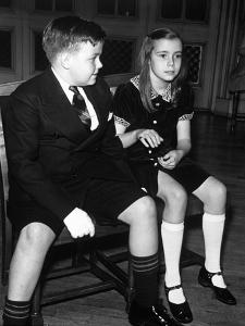 Children at Ballroom Dancing Class Attempting Proper Deportment with Mixed Results