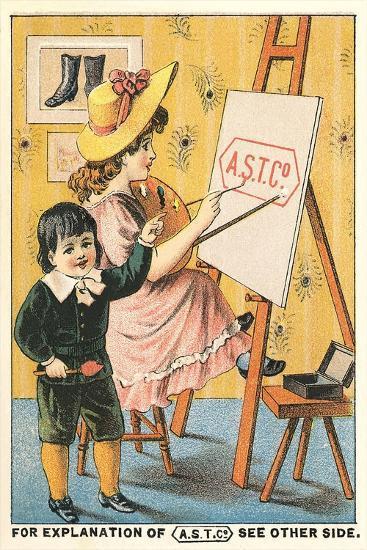 Children at Easel--Art Print