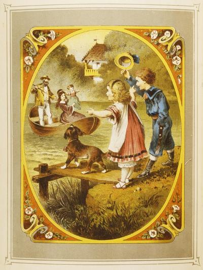 Children at Lake, Page from Livre D'Images Parlantes--Giclee Print