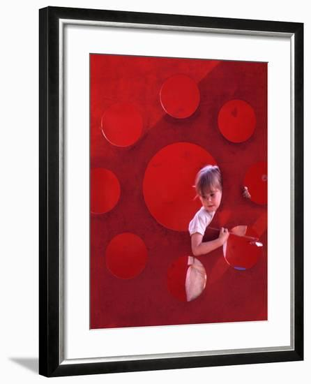 Children at Play in New York City Playgrounds-John Zimmerman-Framed Photographic Print