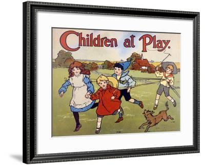 Children at Play Story--Framed Giclee Print
