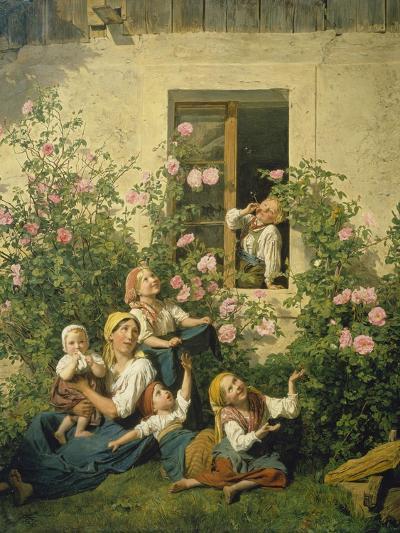 Children Blowing Bubbles, 1842-Ferdinand Georg Waldm?ller-Giclee Print