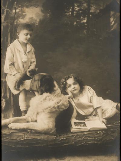 Children Cat Dog--Photographic Print