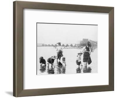 Children Crabbing on the Seashore