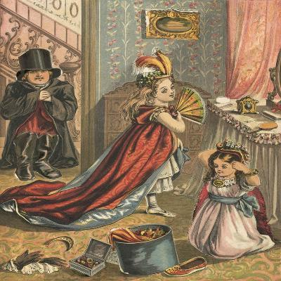 Children Dressing Up-English School-Giclee Print