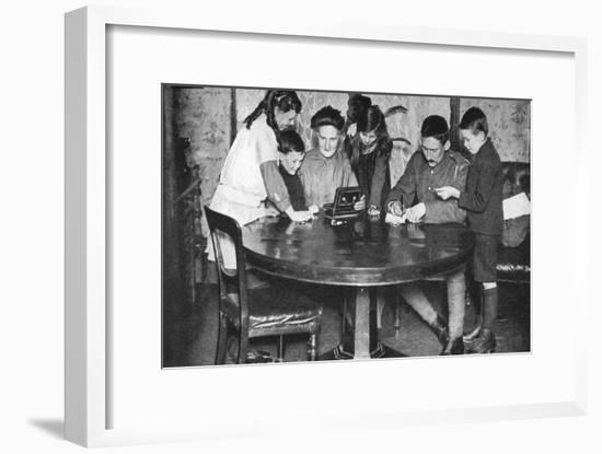 Children Emptying their Money Boxes to Invest in War Bonds, 1936--Framed Giclee Print