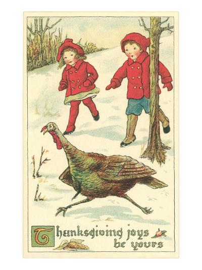 Children Encountering Turkey--Art Print