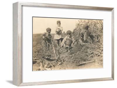 Children Harvesting Squash