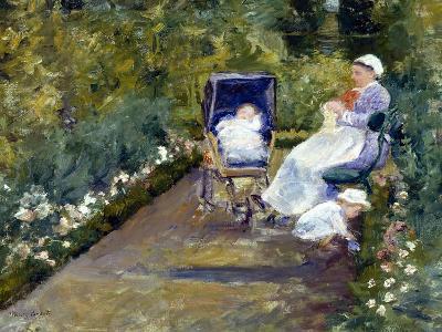Children in a Garden (The Nurse)-Mary Cassatt-Giclee Print