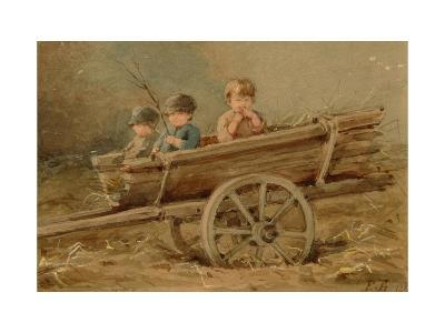 Children in a Telega, 1882-Elizaveta Merkuryevna Bem-Giclee Print