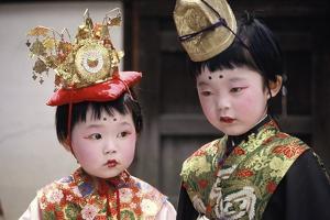 Children in Costume, Kyoto, Japan