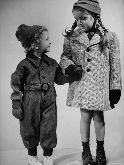 Children Modeling Clothes from a Story Concerning Dresses For Invasion Countries-Nina Leen-Photographic Print