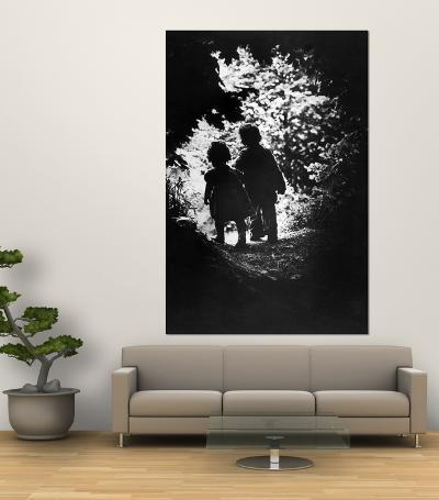 Children of Photographer with Eugene Smith Walking Hand in Hand in Woods Behind His Home-W^ Eugene Smith-Giant Art Print