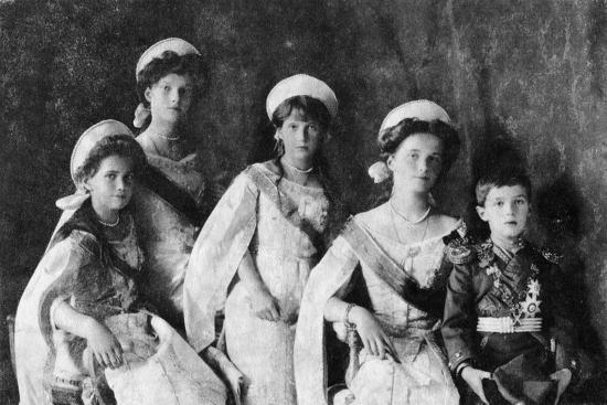 Children of Tsar Nicholas II of Russia, c1910-Unknown-Photographic Print
