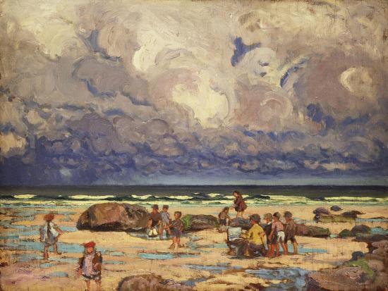Children on the Beach, C.1910-William Samuel Horton-Giclee Print