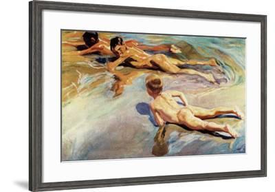 Children on the Beach-Joaquín Sorolla y Bastida-Framed Art Print