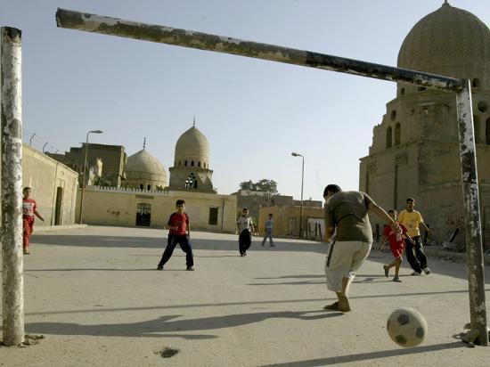 Children Play Soccer--Photographic Print