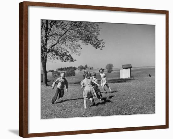 Children Playing at Recess-Bernard Hoffman-Framed Photographic Print