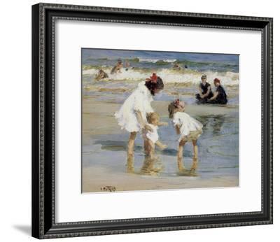 Children Playing at the Seashore-Edward Henry Potthast-Framed Art Print