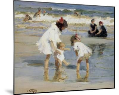 Children Playing at the Seashore-Edward Henry Potthast-Mounted Print