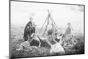 Children Playing Being Indians