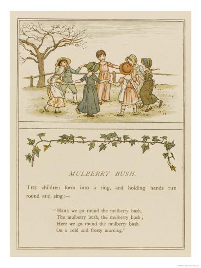 Children Playing Here We Go Round the Mulberry Bush--Giclee Print