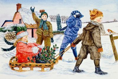Children Playing in the Snow-Catherine Bradbury-Giclee Print