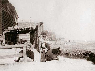 Children Playing, Marken Island, Netherlands, 1898-James Batkin-Photographic Print