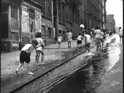 Children Playing on 103rd Street in Puerto Rican Community in Harlem-Ralph Morse-Photographic Print