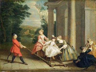 Children Playing with a Hobby Horse, c.1741-47-Joseph Francis Nollekens-Giclee Print
