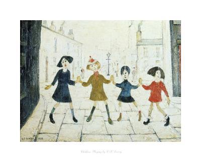 Children Playing-Laurence Stephen Lowry-Art Print