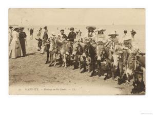 Children Prepared for a Donkey Ride