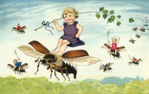 Children Riding Bees