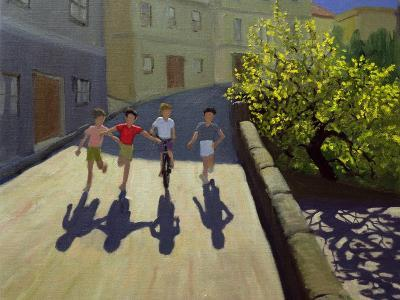 Children Running, Lesbos, 1999-Andrew Macara-Giclee Print