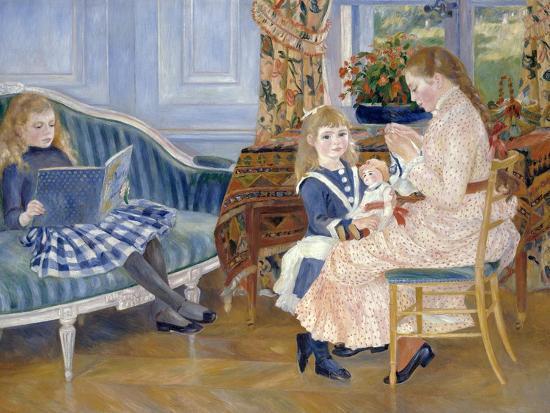 Children's Afternoon at Wargemont-Pierre-Auguste Renoir-Giclee Print