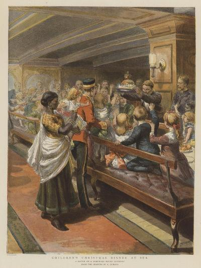 Children's Christmas Dinner at Sea-Godefroy Durand-Giclee Print