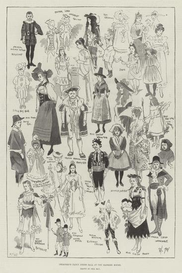 Children's Fancy Dress Ball at the Mansion House-Phil May-Giclee Print