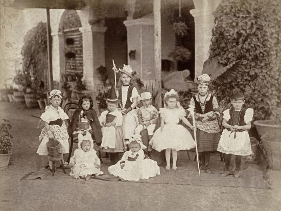 Children's Fancy Dress Party in India, Late 19th Century--Photographic Print