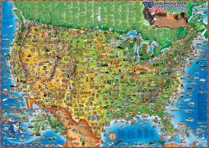 Kids maps artwork for sale posters and prints at art childrens map of the usa laminated educational poster gumiabroncs Choice Image