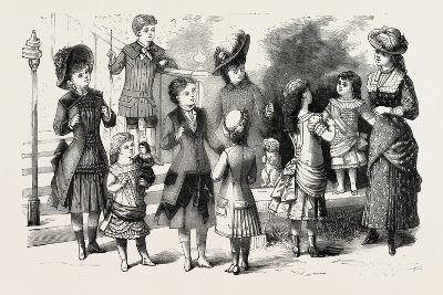 Children's Summer Costumes, 1882, Fashion--Giclee Print