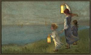 Children Signaling with Lanterns