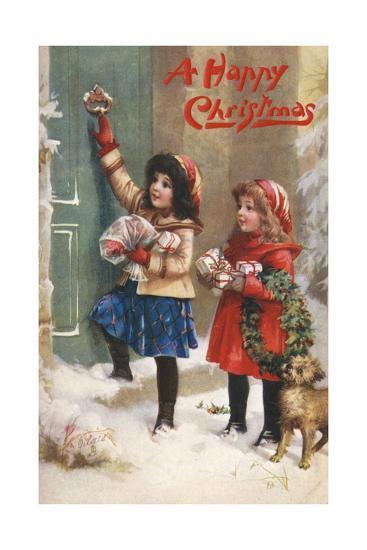 Children Visiting--Giclee Print