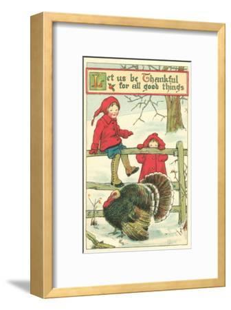 Children Watching Turkey in Pen