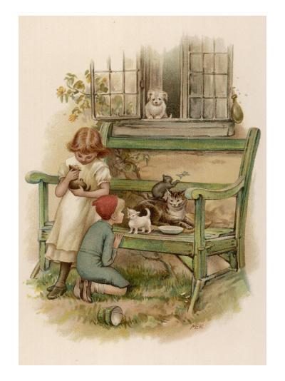Children with Animals--Giclee Print
