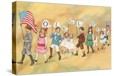 Children with Pennants, Old Glory